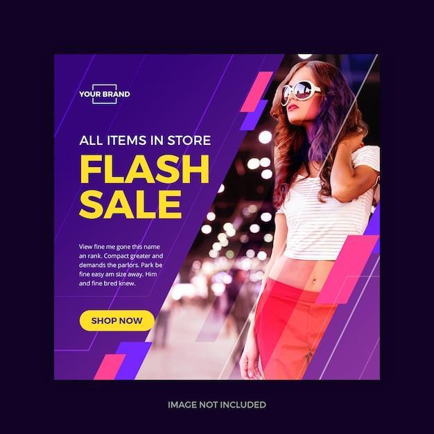 Flash venta instagram banner redes sociales PSD Premium