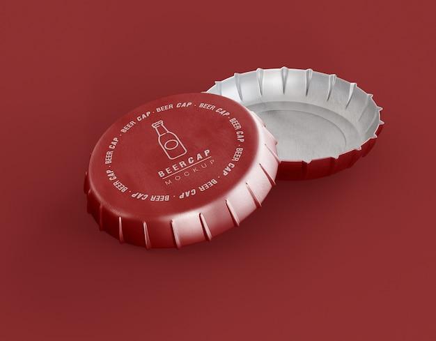 Flessendop mockup Premium Psd