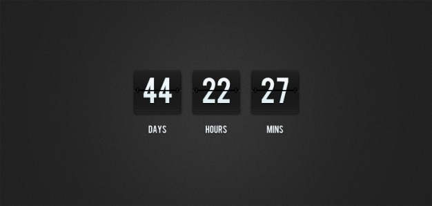 Flip-clock countdown (psd) Gratis Psd