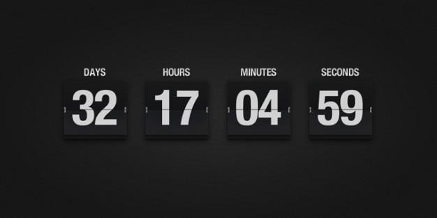 Flip Clock Psd Gratis