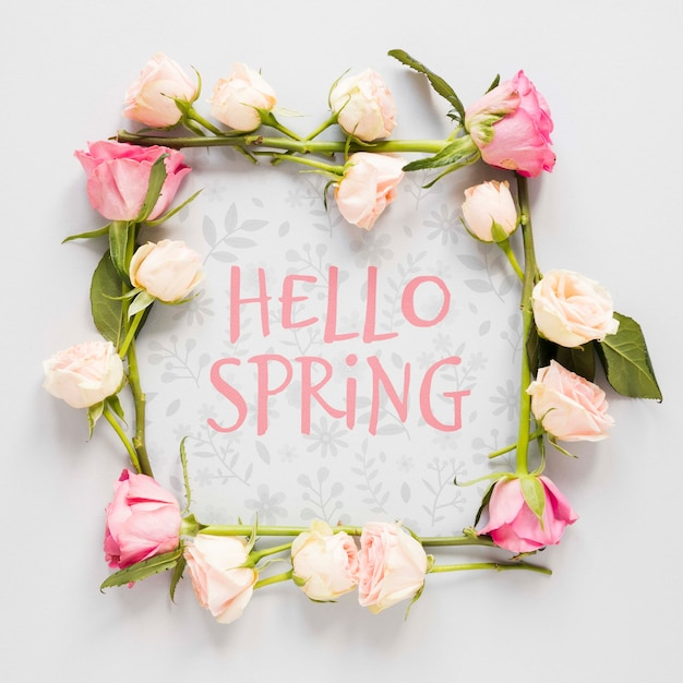 Floral frame op wenskaart Gratis Psd