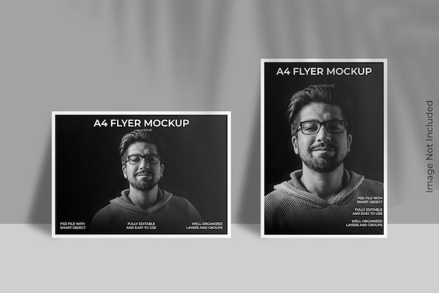 Flyer brochure mockup met bladschaduw Premium Psd