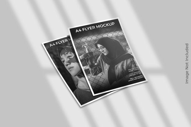 Flyer brochure mockup met schaduw overlay Premium Psd