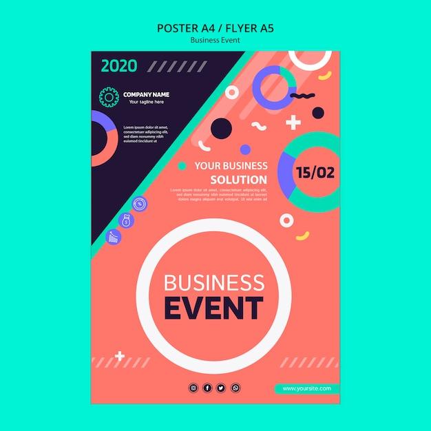 Flyer Concept Voor Zakelijke Evenement Gratis Psd Bestanden