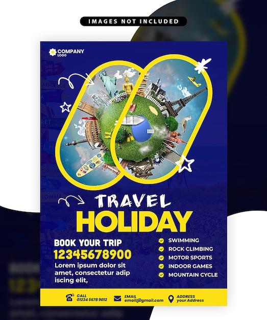 Flyer di viaggio Psd Premium