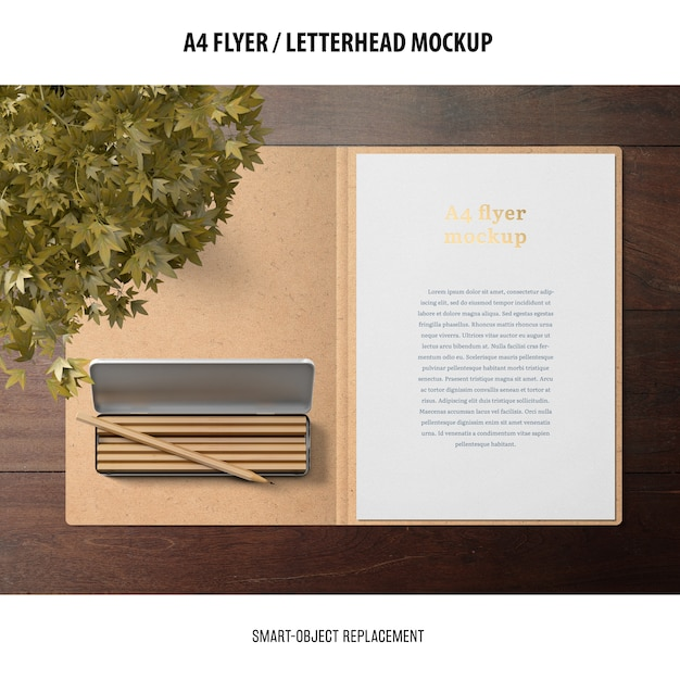 Flyer o carta intestata mockup Psd Gratuite