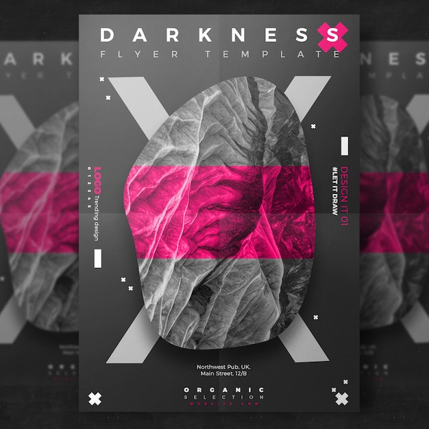 Flyer oscuro creativo de evento Psd Gratis