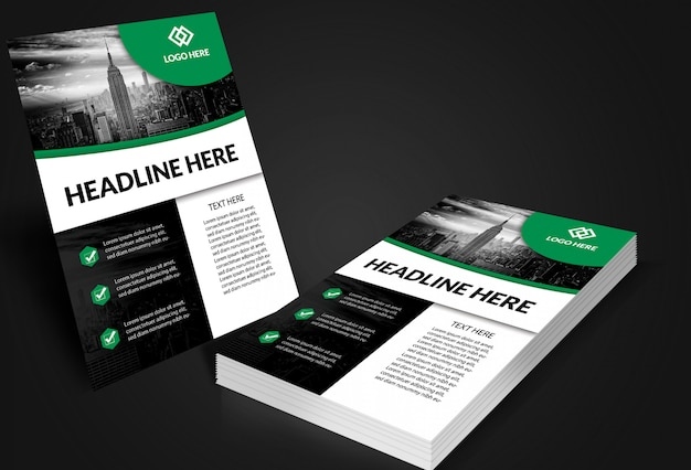 Flyer poster mockups Premium Psd
