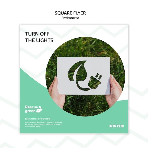 Flyer sjabloon concept met omgeving Gratis Psd