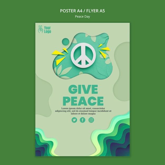 Flyer-sjabloon voor internationale vredesdag Gratis Psd