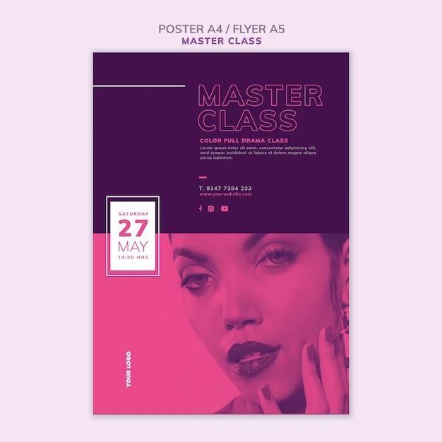 Flyer-sjabloon voor masterclass Gratis Psd