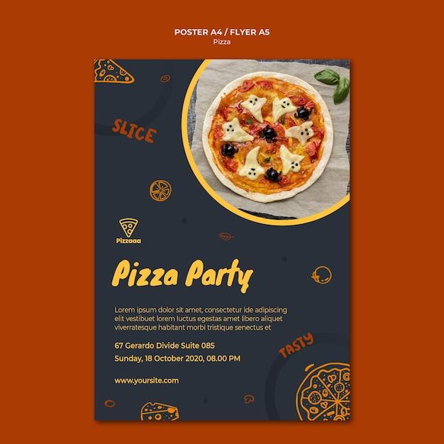 Flyer sjabloon voor pizza restaurant Gratis Psd