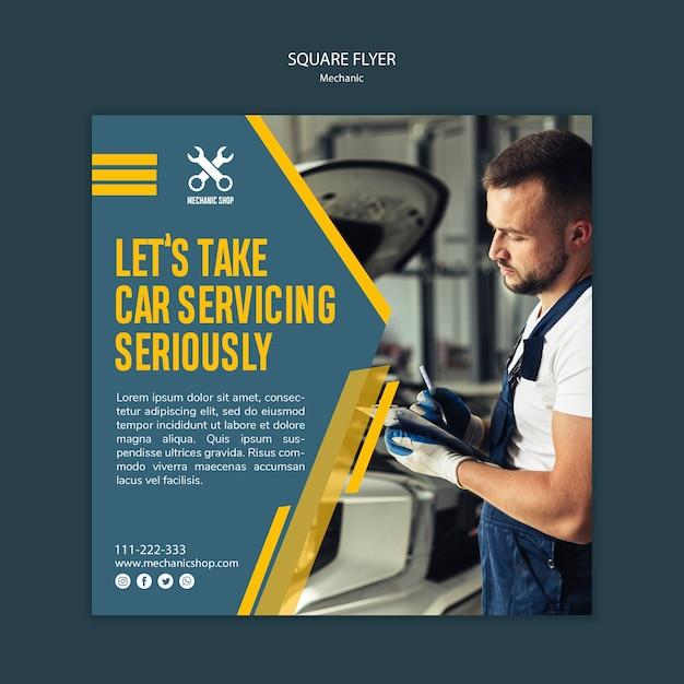 Flyer voor mechanisch beroep Gratis Psd