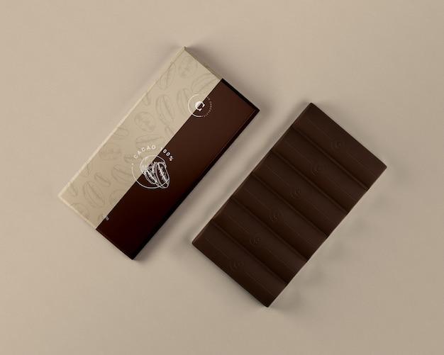 Foglio di tavoletta di cioccolato che avvolge mock-up Psd Gratuite