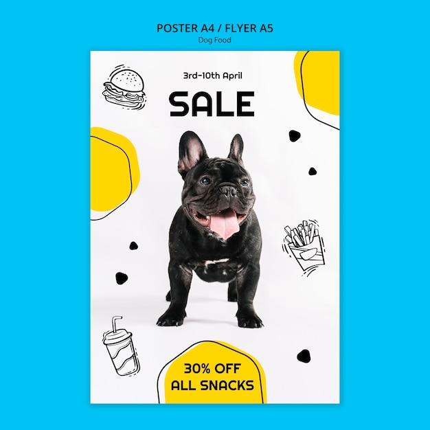 Folleto cuadrado colorido comida para perros PSD gratuito