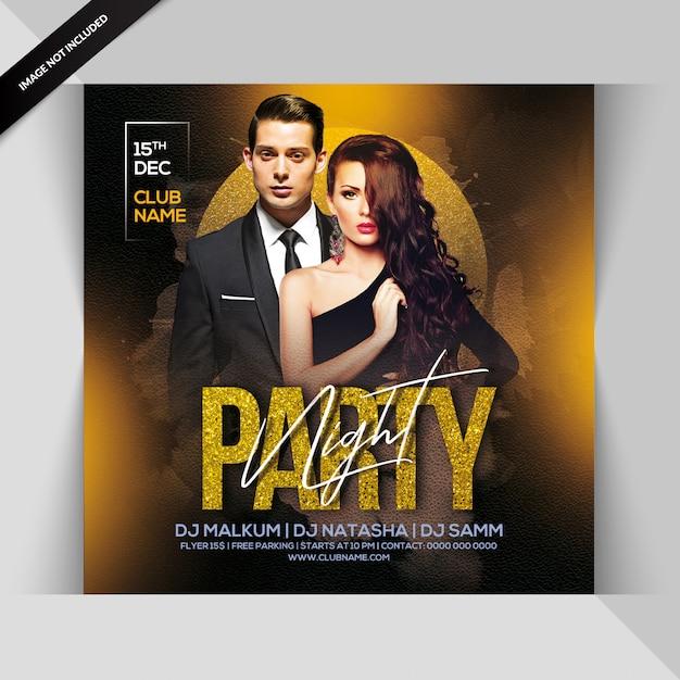 Folleto de noche de fiesta PSD Premium