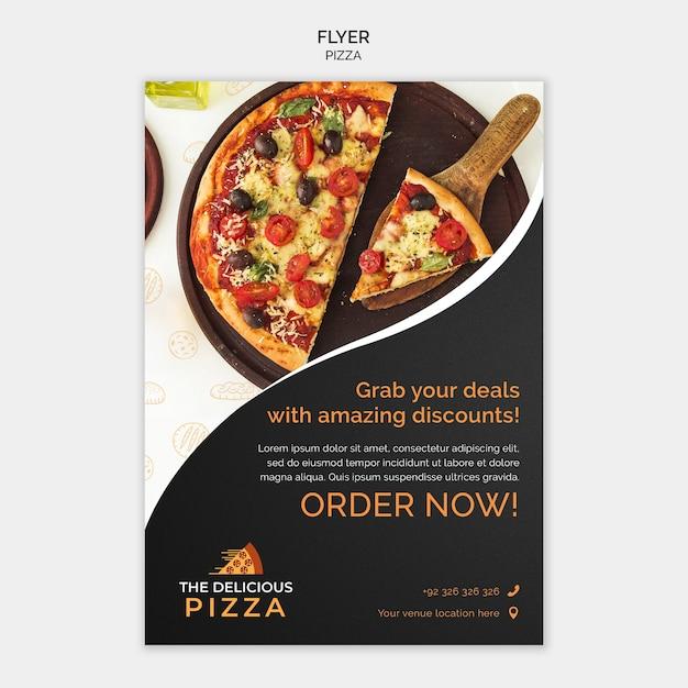 Folleto para ordenar pizza PSD gratuito