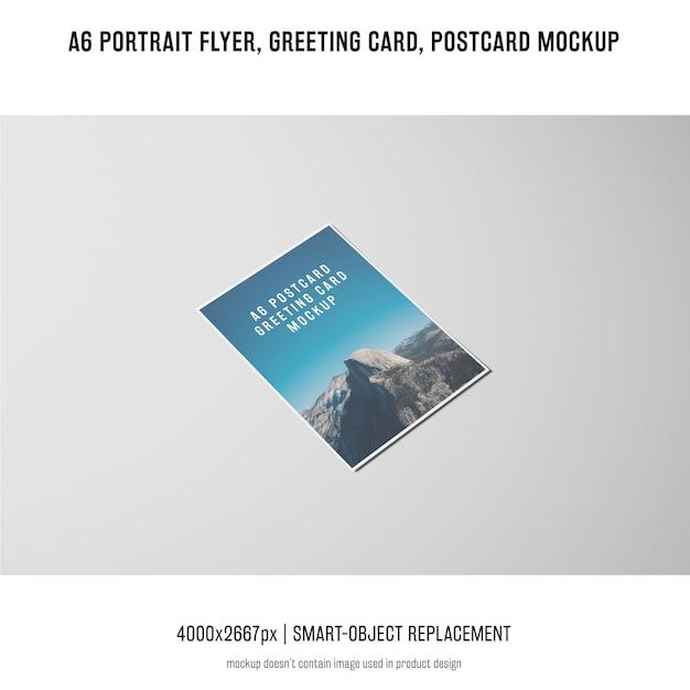 Folleto del retrato, postal, maqueta de la tarjeta de felicitación PSD gratuito