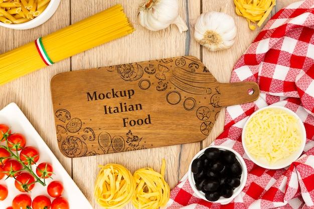 Fondo de alimentos con ingredientes sabrosos PSD gratuito