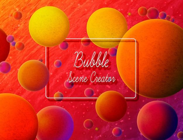 Fondo colorido creador de la burbuja de la escena PSD gratuito