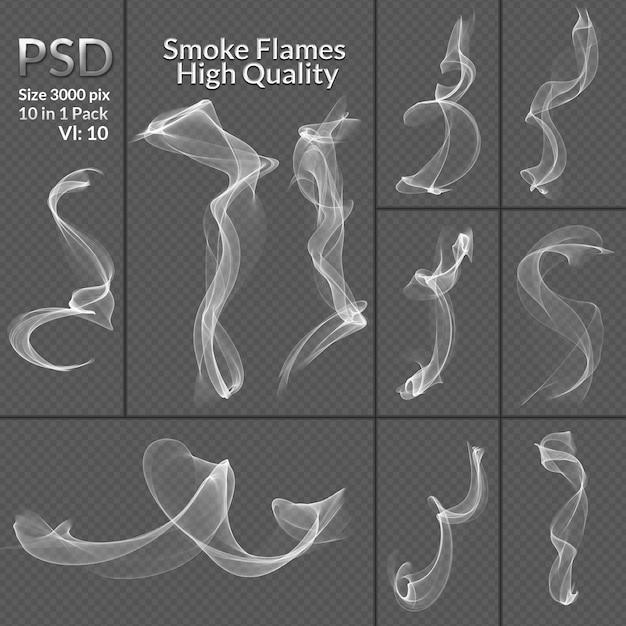 Fondo transparente aislado de la colección de humo PSD Premium