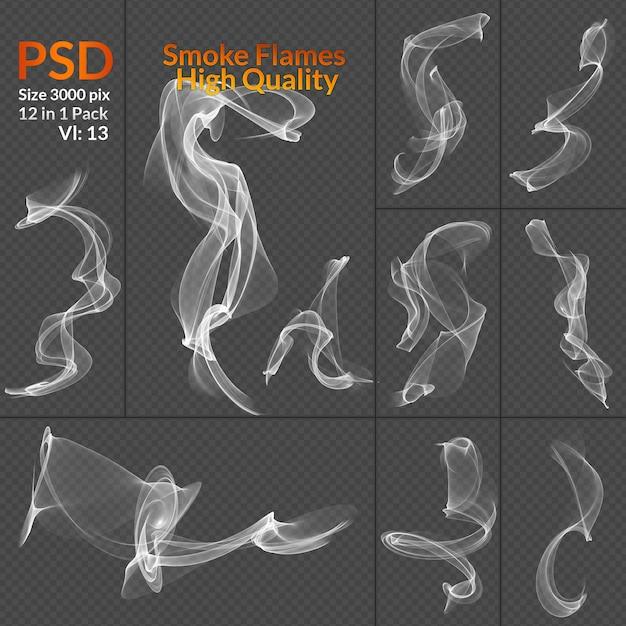 Fondo trasparente isolato raccolta di fumo Psd Premium
