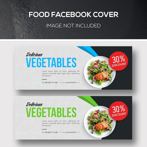 Food facebook cover per ristorante vegano Psd Premium