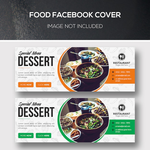 Food facebook cover Psd Premium