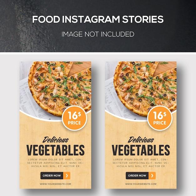 Food instagram-verhalen Premium Psd