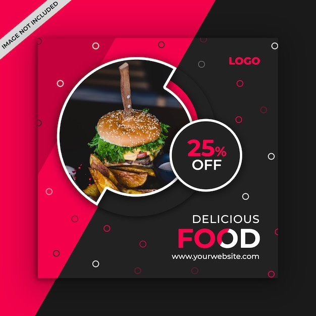 Foods sociale media post sjabloon Premium Psd