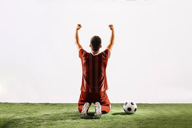 Football-speler vieren Gratis Psd