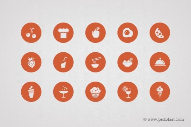 Forma icone alimentari in psd Psd Gratuite