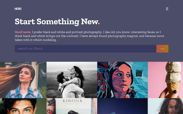Fotogallery met hero-headers Premium Psd