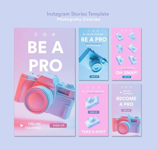 Fotografie concept instagram verhalen sjabloon Gratis Psd