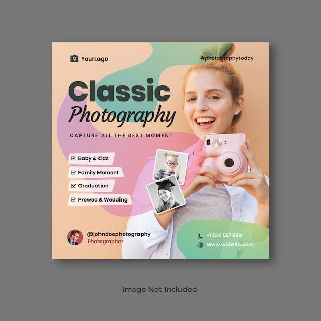 Fotografie sociale media banner Premium Psd