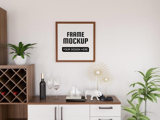Fotolijstmodel in de moderne keuken Premium Psd