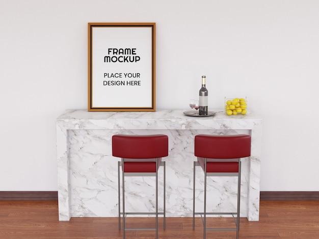 Fotolijstmodel op het bureau Premium Psd