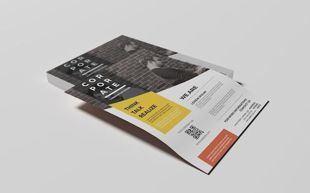 Fotorealistische a4 flyer-mock-ups Premium Psd
