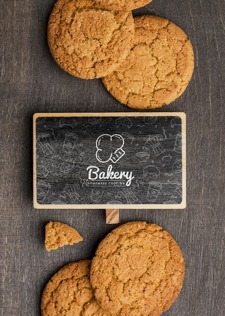Frame en heerlijke koekjes Gratis Psd