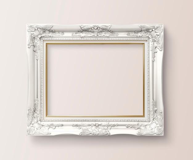 Frame op een muur Gratis Psd