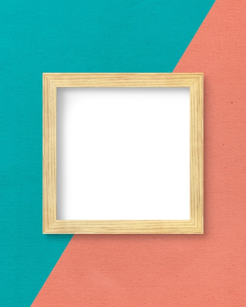 Frame op een tweekleurige muur Gratis Psd