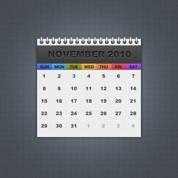 Freebie calendario Psd Gratuite