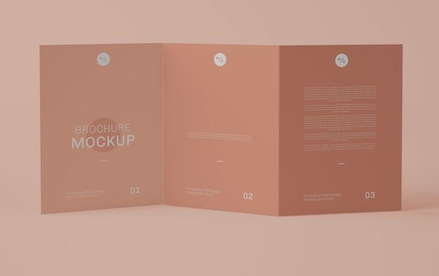 Front driebladige brochure mockup Premium Psd