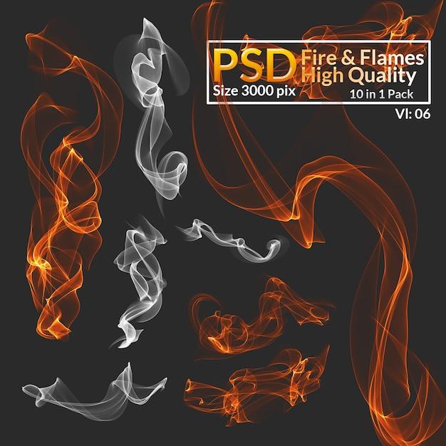 Fuoco e fiamme di alta qualità Psd Premium