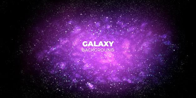 Galaxy abstracte achtergrond Gratis Psd