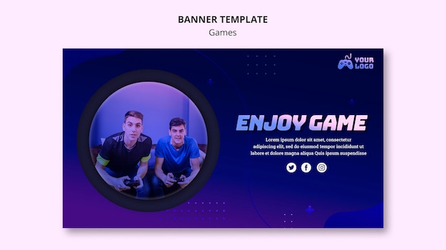 Game spot advertentiebannermalplaatje Gratis Psd