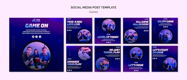 Game spot social media postsjabloon Premium Psd