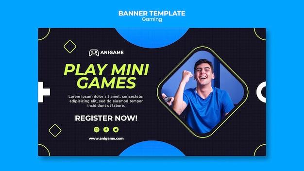 Gaming concept banner sjabloon stijl Premium Psd