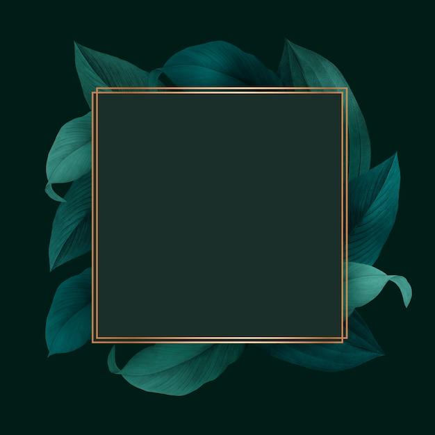 Gebladerte versierd frame Gratis Psd
