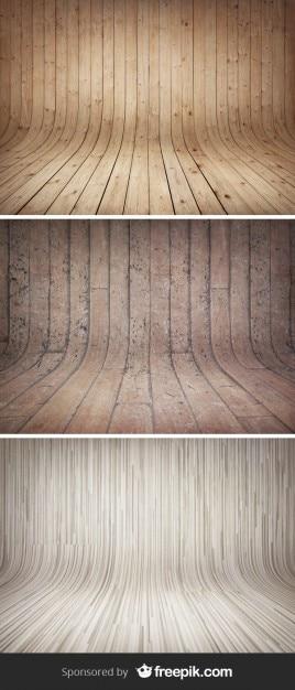 Gebogen houten achtergronden Gratis Psd